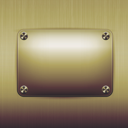 nameboard: Metal texture background and Vector illustration.
