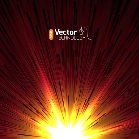 big bang theory: Abstract background - illustration of big explosion, catastrophe. Big bang.