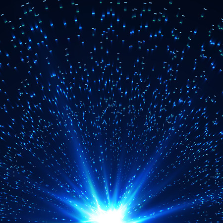 Abstract shining and laser background