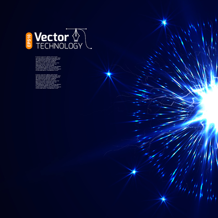 agleam: Starburst and power vector illustration