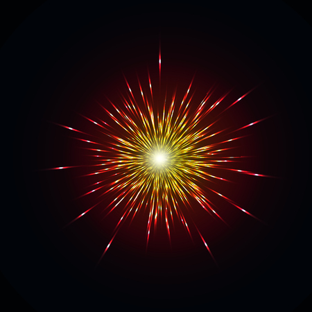 detonation: Sparks, electricity discharge bright background