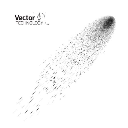 comet: Comet on a white background, vector technology