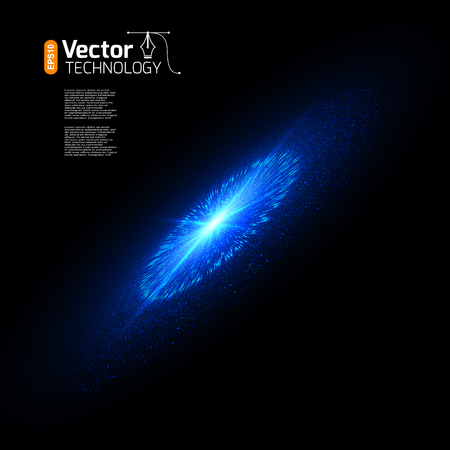 remnant: Bright supernova remnant nebula with thousands stars. Illustration