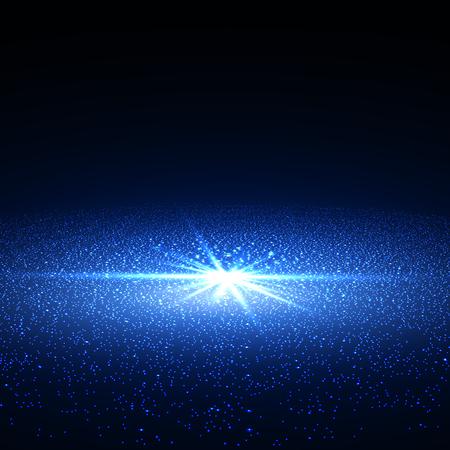 nebula: Bright supernova remnant nebula with thousands stars. Illustration