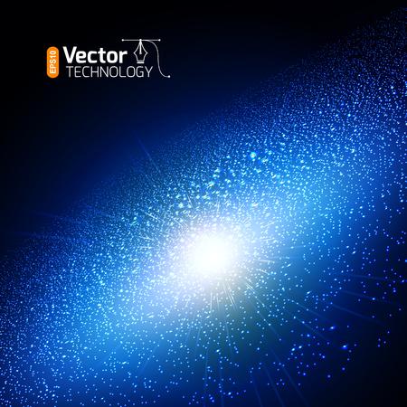 Bright supernova remnant nebula with thousands stars.