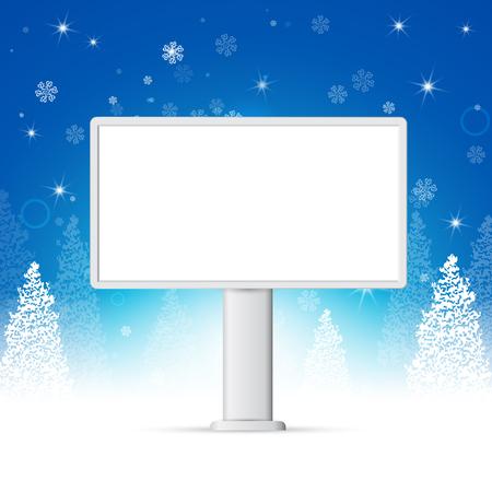 크리스마스와 새해 축하 배너, 조롱