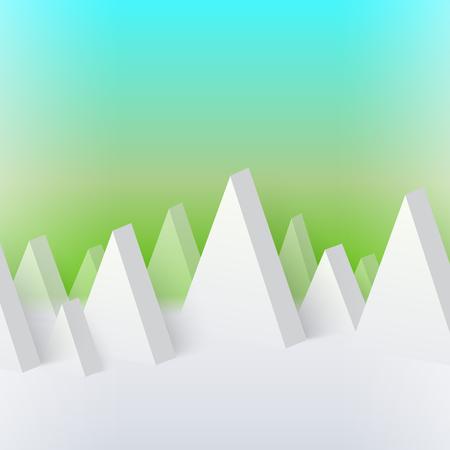 Abstract geometric mountain
