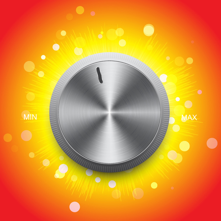 Volume control on a bright background Illustration