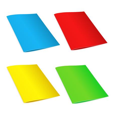 note booklet: Booklet and folder, mock up template. Illustration
