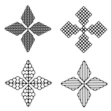 Geometric a four stars Illustration