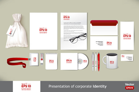Stationery template mockup. Documentation for business. Illustration