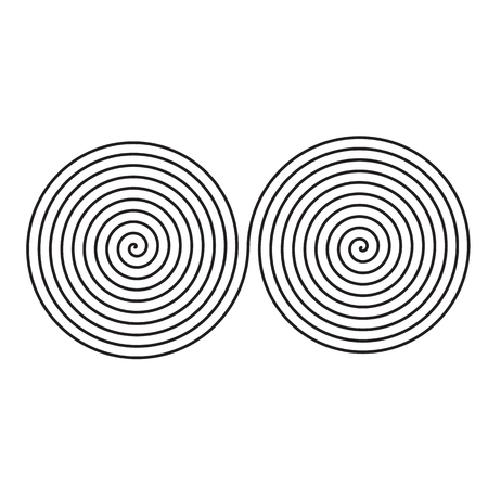 Sign of infinity of spirals illustration.