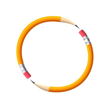 The idea of a simple pencil, pencil logo of the curves