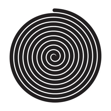 Sign black spiral Illustration