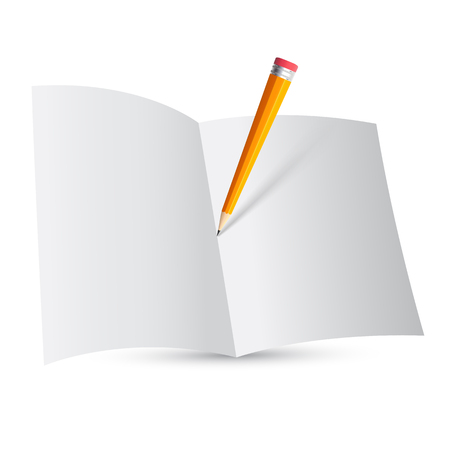 Template notepads with pencil