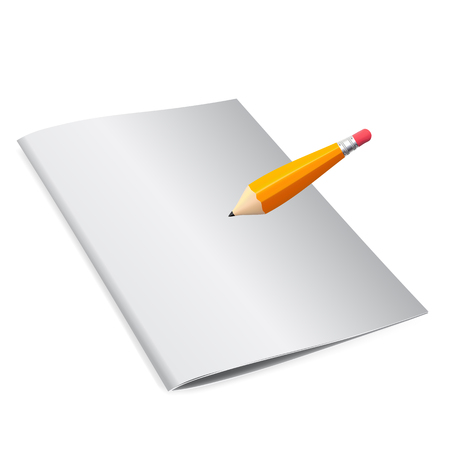 Booklet for notes with a pencil