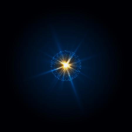 Abstract shine light flying rays.