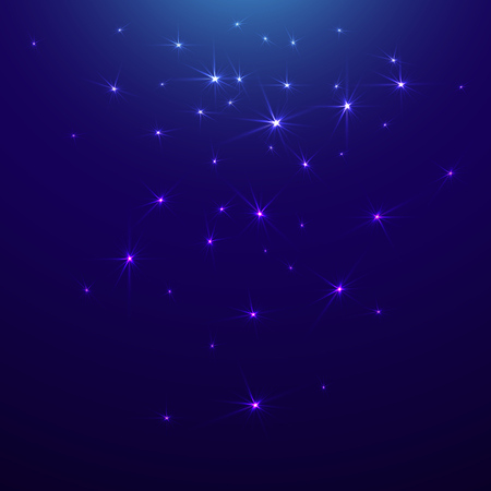 Starry sky, waiting for a miracle. Illustration
