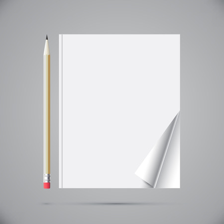 Notebook with a pencil for records