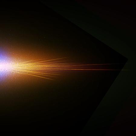 flash of light, heat