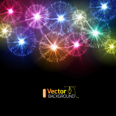 Fireworks from fireworks flares