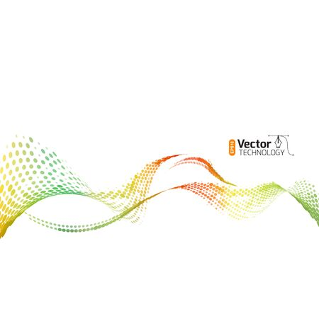abstract waves of the points for the design of business presentation or a screensaver