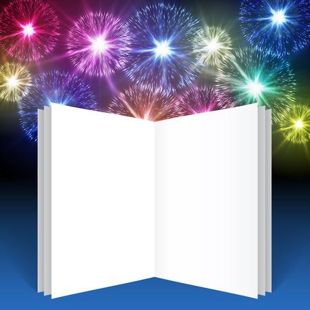 Vuurwerk, illustratie voor uw ansichtkaarten Stock Illustratie