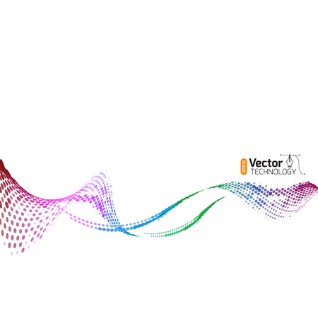 Abstract waves of color technology for business presentations design template.