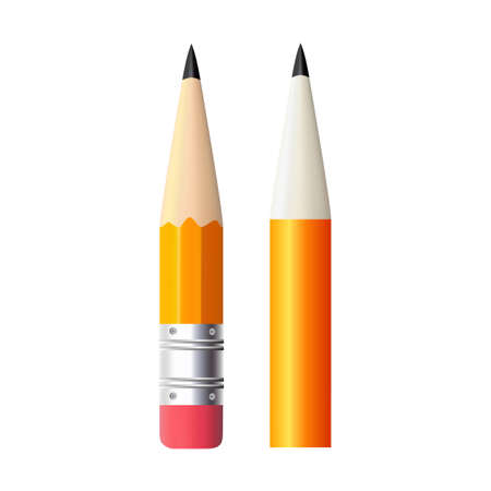 Set of simple pencil for drawing and painting illustration.