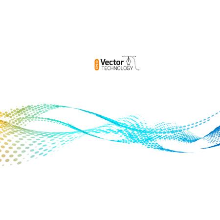 Abstracte golven van kleur, technologie voor zakelijke presentaties ontwerpsjabloon. Stock Illustratie