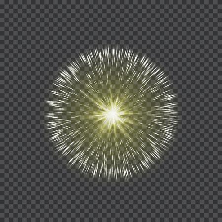 Gloeiend ster lichteffect op een transparante achtergrond, illustratie. Stock Illustratie