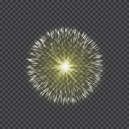 Glowing star light effect on a transparent backdrop, illustration.