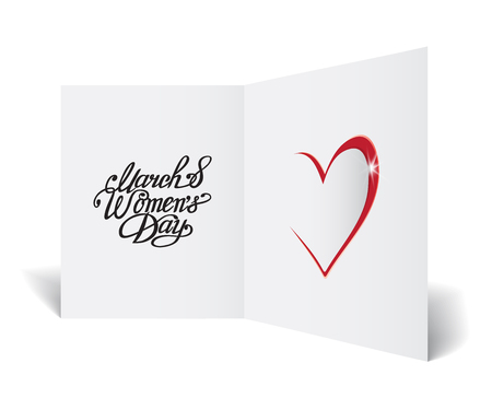 greeting card on March 8, Women's Day Illustration
