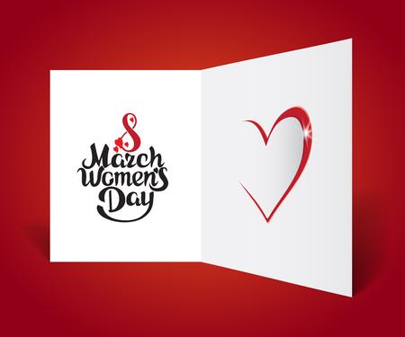March 8 - Women's Day. Bright vector card design.