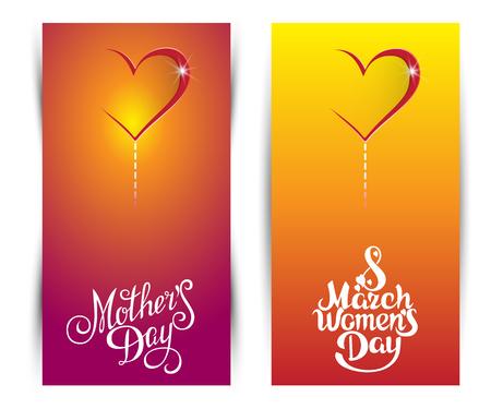 wenskaart op 8 maart, Vrouwendag Stock Illustratie