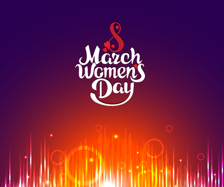greeting card on March 8, Women's Day Vectores