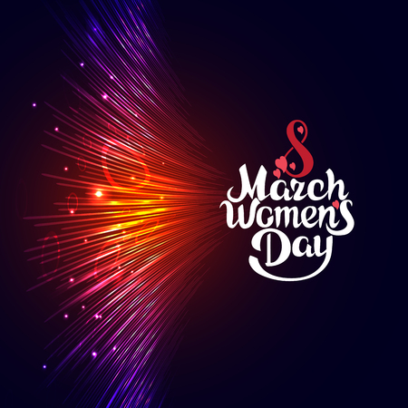 greeting card on March 8, Women's Day, Happy Mother's Day.