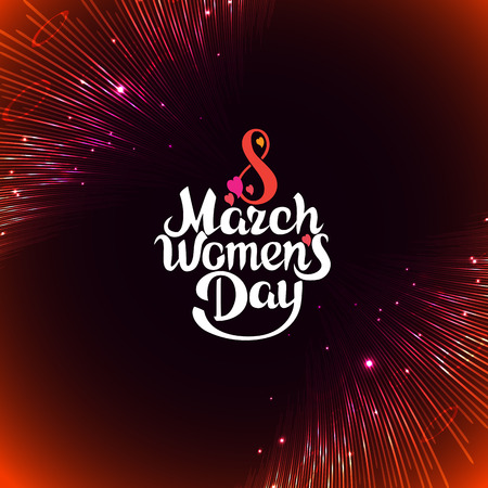 greeting card on March 8, Womens Day, Happy Mothers Day.