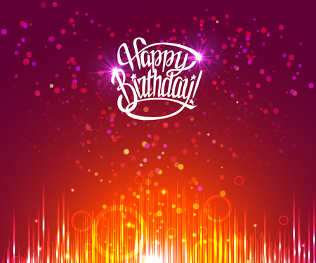happy birthday sign.Hand drawn lettering. Greeting card with calligraphy.