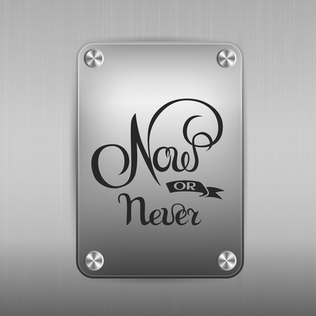 now or never sign.Hand drawn lettering. Greeting card with calligraphy. Stock fotó - 88221013