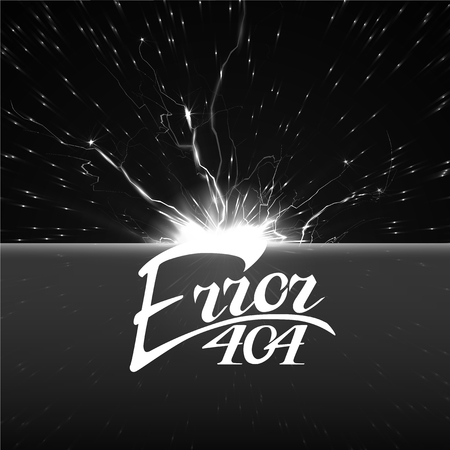 error 404 sign.Hand drawn lettering. Greeting card with calligraphy.