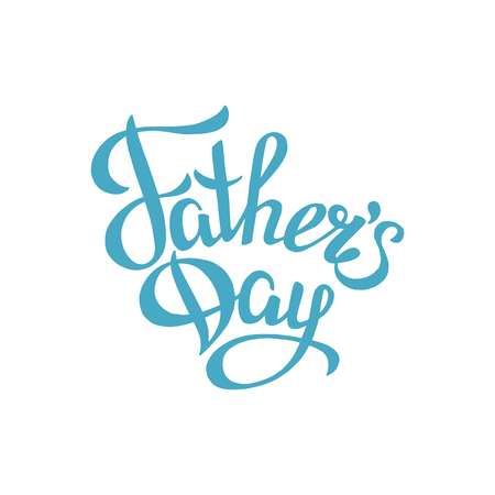 fathers day sign.Hand drawn lettering. Greeting card with calligraphy. Stock Illustratie