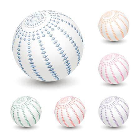 Ball With Abstract Ornament Vector