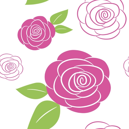 Seamless pattern with rose background Иллюстрация