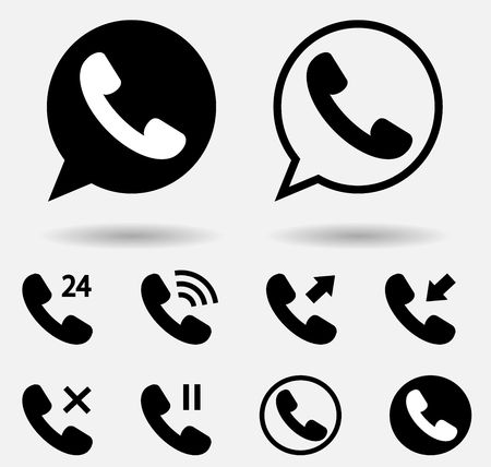 round icons: handset icon