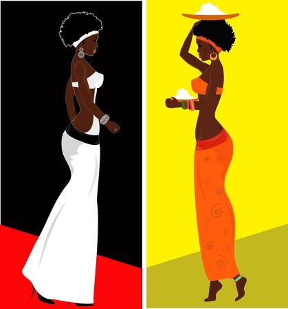 femme africaine: Femme africaine Illustration