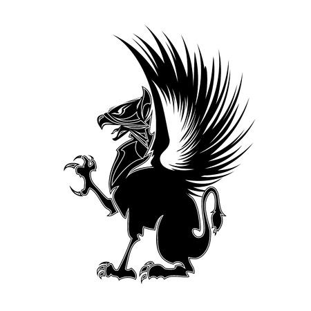 Griffin heraldry symbol  Illustration