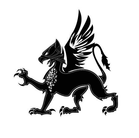dragon: Griffin heraldry symbol