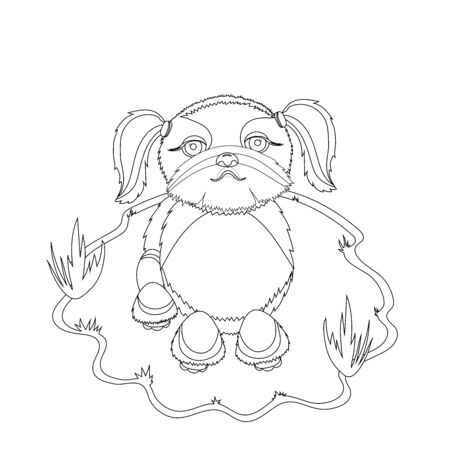 Shih Tzu Dog Coloring Picture