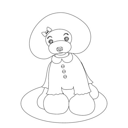 Poodle Dog Coloring Picture
